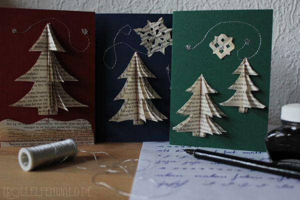 Weihnachtskarten mit Kurrentstudien