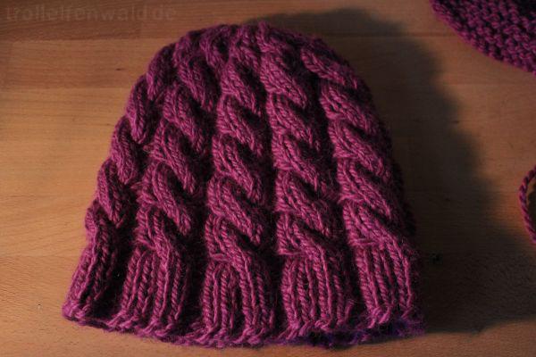 Lila Laune Mütze